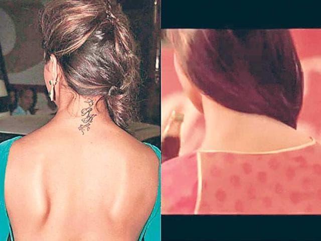 Rumour has it: Deepika Padukone's removed her 'RK' tattoo ...