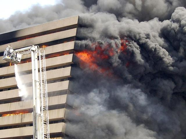 Fire breaks out at prime city hotel
