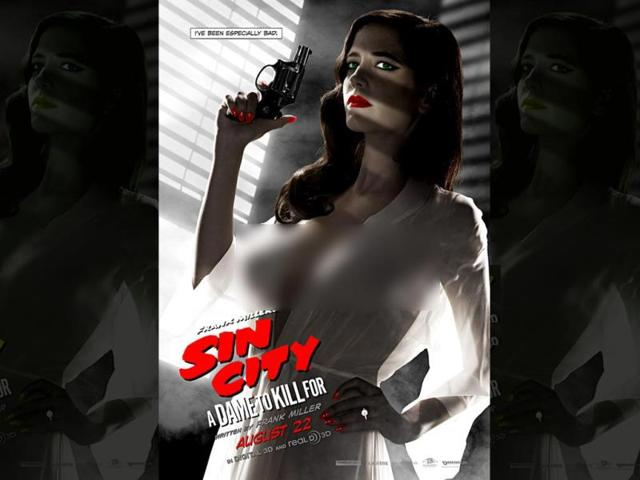 Hollywood-actor-Eva-Green-in-the-poster-for-Sin-City-A-Dame-To-Kill-For