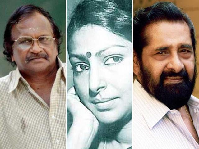 The-three-legends-of-Malayalam-cinema-ace-filmmaker-Sreekumaran-Thampi-yesteryear-actor-Sarada-and-thespian-Madhu