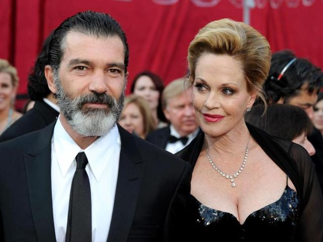 A-file-picture-shows-actress-Melanie-Griffith-and-husband-actor-Antonio-Banderas-as-they-arrive--at-the-82nd-Academy-Awards-at-the-Kodak-Theater-in-Hollywood-AFP-Photo
