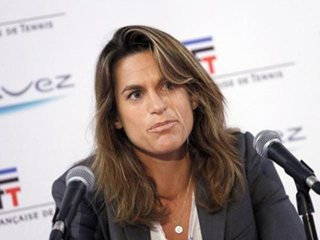 File-photo-of-Amelie-Mauresmo-at-a-press-conference-AFP-Photo