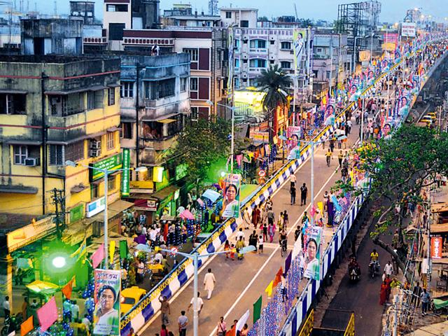 A-new-flyover-at-Nager-Bazar-after-being-inaugurated-by-West-Bengal-CM-Mamata-Banerjee-Prateek-Choudhury-HT-Photo