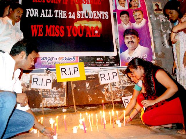 IT-professionals-and-students-in-Hyderabad-take-part-in-a-candle-light-march-in-memory-of-the-24-engineering-students-who-were-swept-away-in-Beas-River-in-Himachal-Pradesh-PTI-Photo