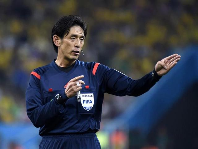 Japanese-referee-Yuichi-Nishimura-reacts-during-a-Group-A-football-match-between-Brazil-and-Croatia-at-the-Corinthians-Arena-in-Sao-Paulo-during-the-2014-Fifa-World-Cup-on-June-12-AFP-Photo