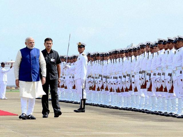 Prime-Minister-Narendra-Modi-arrives-at-INS-Hansa-near-Dabolim-in-Goa-PTI-photo