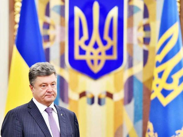 Ukrainian-President-Petro-Poroshenko-arrives-for-a-National-Security-and-Defence-Council-sitting-in-Kiev-AFP-Photo