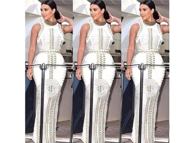 Kim-Kardashian-uploaded-a-picture-of-her-on-Instagram-wearing-a-dress-of-what-appear-to-be-rope-on-a-yacht-party-in-France-Photo-courtesy-Instagram-kimkardashian