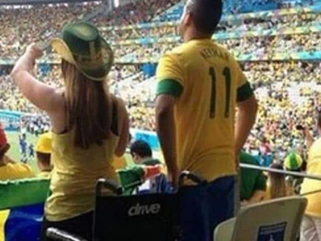 disabled Brazilian fan controversy