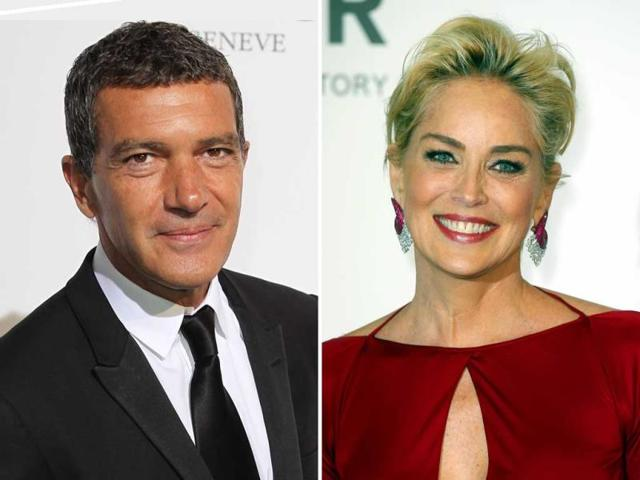 Antonio-Banderas-and-Sharon-Stones-The-former-recently-split-ways-with-his-wife-of-18-years-Melanie-Griffith-Agencies