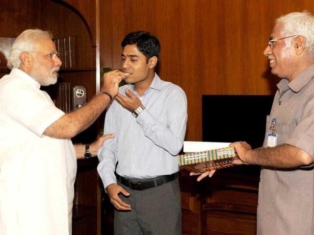 Modi meets PMO official son
