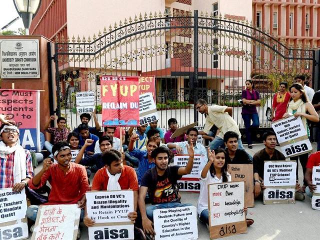 delhi university fyup row,four year undergraduate programme,delhi university admissions