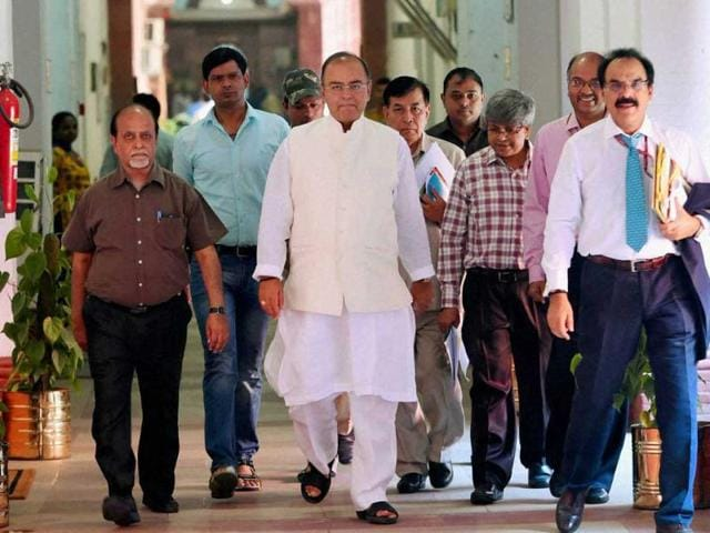 Union-finance-minister-Arun-Jaitley-during-a-pre-budget-meeting-with-social-sector-related-groups-in-New-Delhi-PTI-Photo
