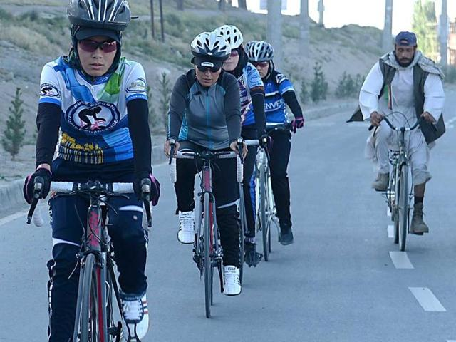 Afghan women cycling,bicycle,women's rights