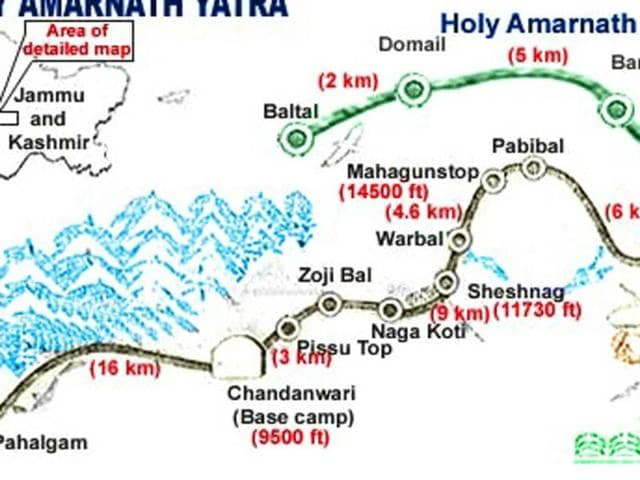 two routes of Amarnath shrine
