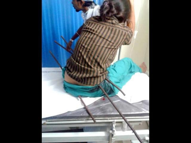 Patna girl,saran,iron bars pierced through body
