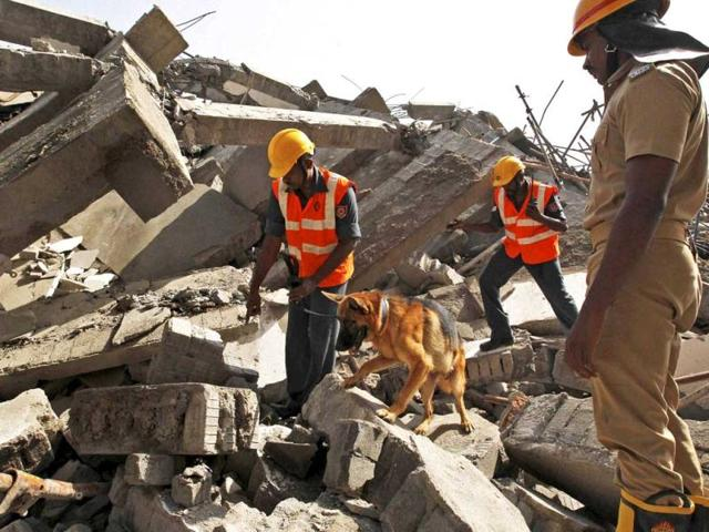 Srinagar,Jammu and Kashmir,building collapse