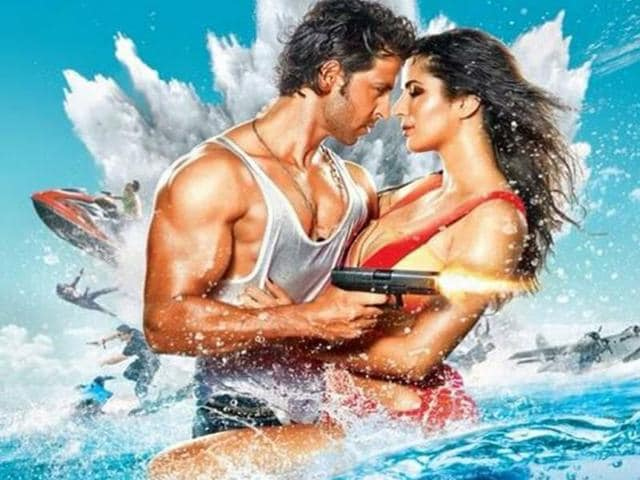Hrithik-Roshan-and-Katrina-Kaif-in-a-poster-of-Bang-Bang