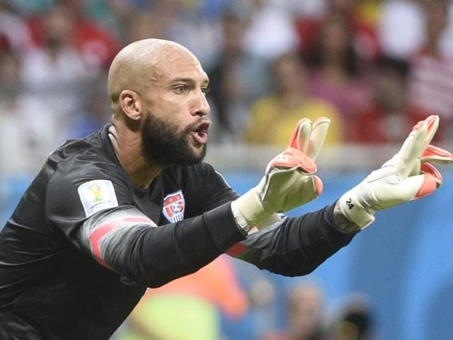 US-goalkeeper-Tim-Howard-reacts-during-their-round-of-16-match-between-against-Belgium-at-the-Fonte-Nova-Arena-in-Salvador-AFP-Photo