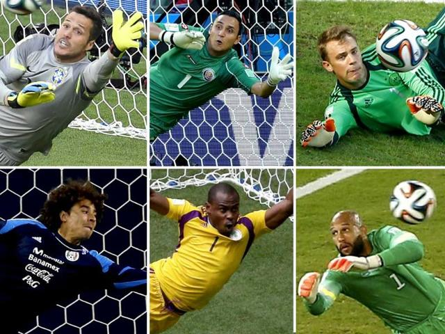 Wondergoalies-Clockwise-from-Top-Left-Julio-Cesar-Brazil-Keylor-Navas-Costa-Rica-Manuel-Neuer-Germany-Tim-Howard-USA-Vincent-Enyeama-Nigeria-and-Guillermo-Ochoa-Mexico-Agency-Photos