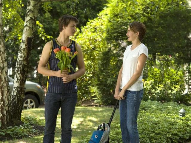 Directed by Josh Boone, The Fault in Our Stars is based on the bestselling novel by John Green. The film stars Shailene Woodley, Ansel Elgort, and Nat Wolff.