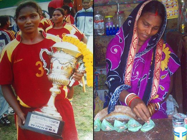 A champ falls; poverty ends rising woman footballer's career