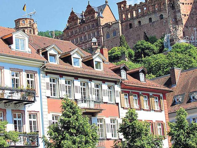Views-of-the-Heidelberg-castle-from-Market-Square