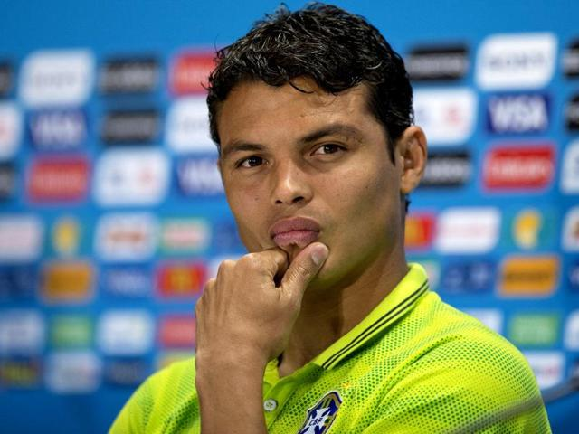 Brazil-s-Thiago-Silva-looks-on-during-a-news-conference-the-day-before-the-World-Cup-semifinal-match-between-Brazil-and-Germany-at-the-Mineirao-Stadium-in-Belo-Horizonte-Brazil-on-Monday-AP-Photo