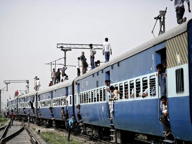 woman burnt in train