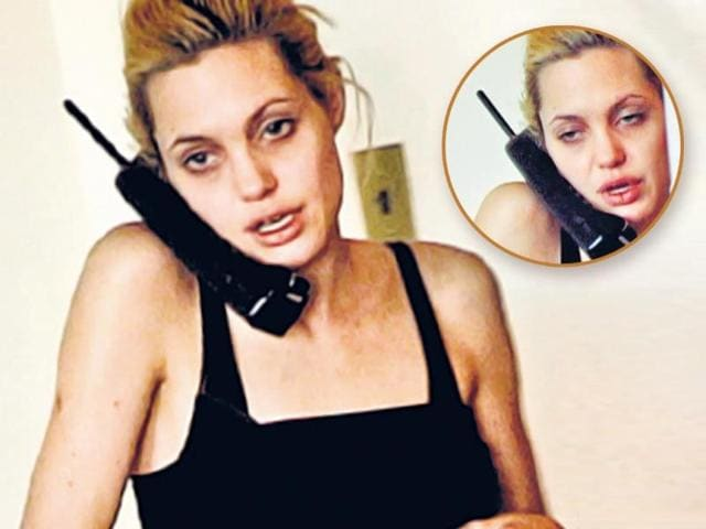 In the clip, the Hollywood icon can be seen with bloodshot eyes, an emaciated frame, frantically pacing the room while in a convoluted phone chat with her actor-father, Jon Voight. Jolie has often referred to her drug-phase as the