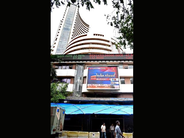 After two days of the rally, Sensex slumped 442 points in late-morning deals following weakness in global stocks amid profit-booking by wary operators ahead of the IIP and CPI data to be released later in the day. (PTI Photo)
