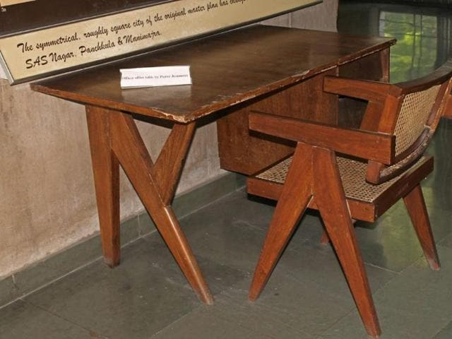 Le-Corbusier-era-furniture-on-display-at-Govt-Art-Museum-Sector-10-in-Chandigarh-on-Sunday-Abhishek-Seth-HT