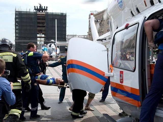 Moscow metro derailed