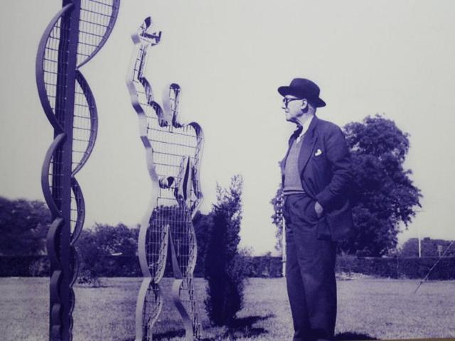 Photos-of-Corbusier-top-and-his-cousin-from-the-collection-of-Suresh-Sharma-French-dealer-Eric-Touchaleaume-procured-2-000-negatives-from-him-Such-is-the-demand-for-Corbusier-era-items-in-Europe-and-the-US-that-even-photographs-of-that-time-fetched-thousands-of-dollars-Six-sets-containing-100-photographs-of-Sharma-s-collection-were-auctioned-for--30-000-Rs-16-lakh