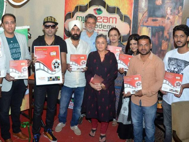 Bollywood-luminaries-Deepti-Naval-Adil-Hussain-Dolly-Ahluwalia-Yashpal-Sharma-and-Gurpreet-Ghuggi-Gippy-Grewal-at-the-launch-of-My-Dream-Academy-on-Monday-in-Chandigarh-Sanjeev-Sharma-HT