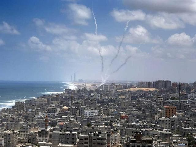 Smoke-billows-from-buildings-following-an-Israeli-air-strike-in-Gaza-City-AFP-Photo