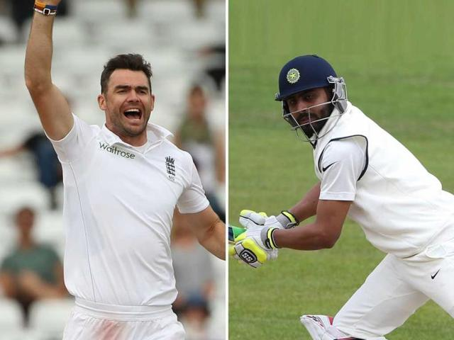 A-combination-photo-of-England-s-James-Anderson-L-and-Ravindra-Jadeja-during-the-first-Test-at-Trent-Bridge-in-Nottingham-central-England-AFP-Photo