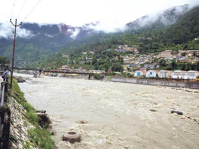 Water-levels-of-the-three-major-rivers-Alaknanda-Mandakini-and-Bhagirathi-edged-towards-their-danger-mark-as-torrential-rains-continued-to-slam-many-parts-of-Uttarakhand-Santosh-Bhatt-HT-photo