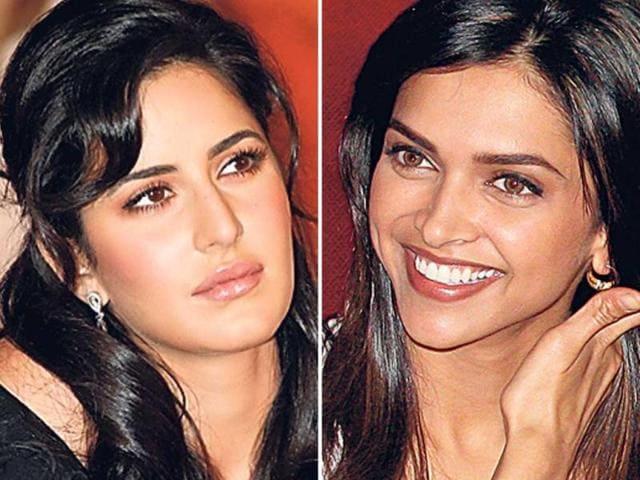 Bollywood-actors-Katrina-Kaif-left-and-Deepika-Padukone