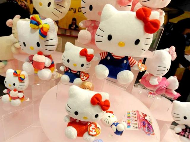 Hello-Kitty-dolls-by-Sanrio-are-displayed-at-the-Toy-Fair-2011-on-February-2011-at-the-Javits-Center-in-New-York-AFP-PHOTO