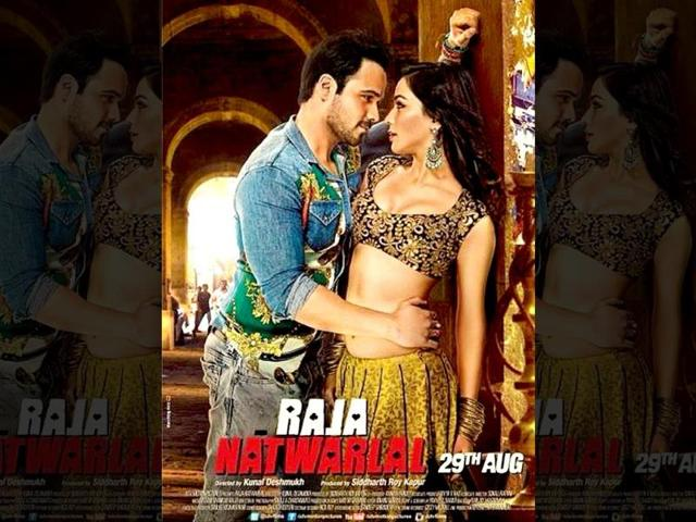 Emraan Hashmi and Humaima Malick on the poster of Raja Natwarlal.