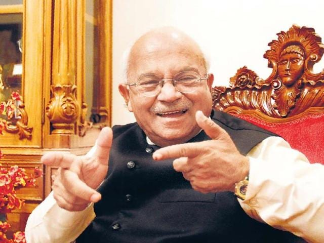 Ved-Pratap-Vaidik-at-his-Gurgaon-residence-Sanjeev-Verma-HT