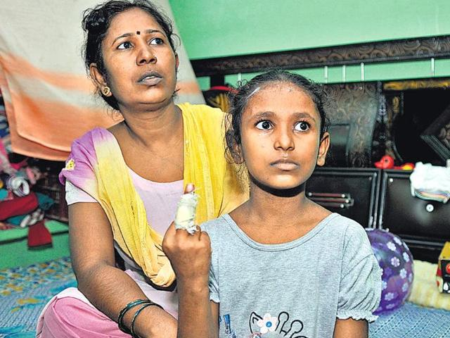Chanchal-Rani-and-five-other-girls-were-beaten-up-by-their-teacher-at-the-municipal-school-Sonu-Mehta-HT-photo