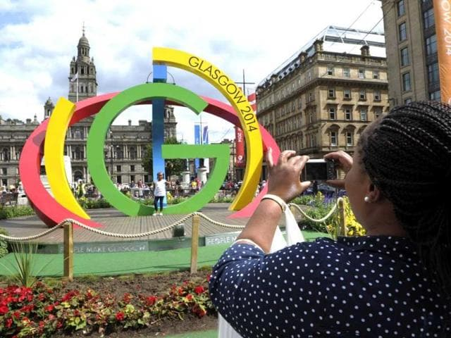 A-sculpture-known-as-The-Big-G-is-pictured-in-Glasgow-in-Scotland-AFP-PHOTO