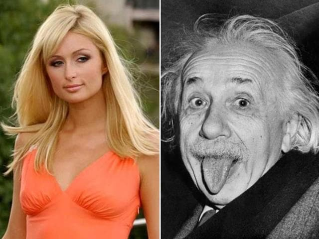 Spot The Difference Paris Hilton Compares Herself With Einstein Entertainment Hindustan Times