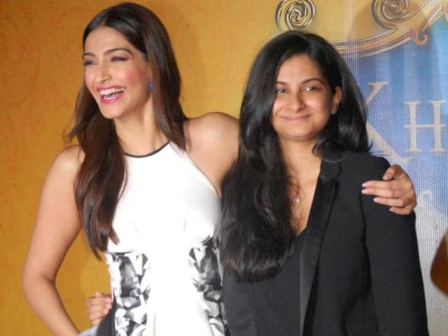 Sonam Kapoor with sister and producer Rhea Kapoor. (IANS Photo)