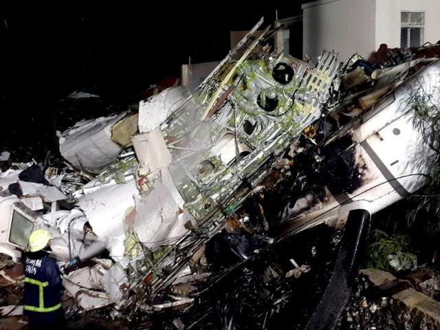 The-wreckage-of-the-TransAsia-Airways-flight-GE222-after-it-crashed-in-Penghu-islands-AFP-Photo