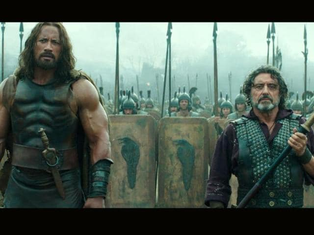 A still from the upcoming movie Hercules that hits the theatres tomorrow.