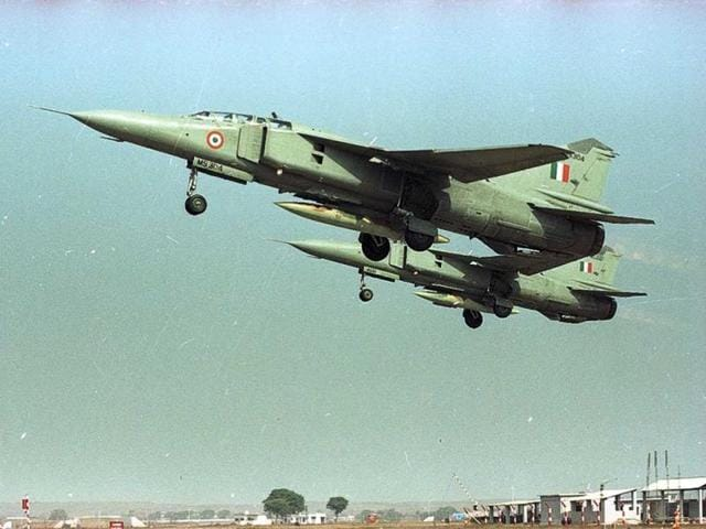 Fighter jets spotted during the Kargil war. (Vipin Kumar/HT Photo)