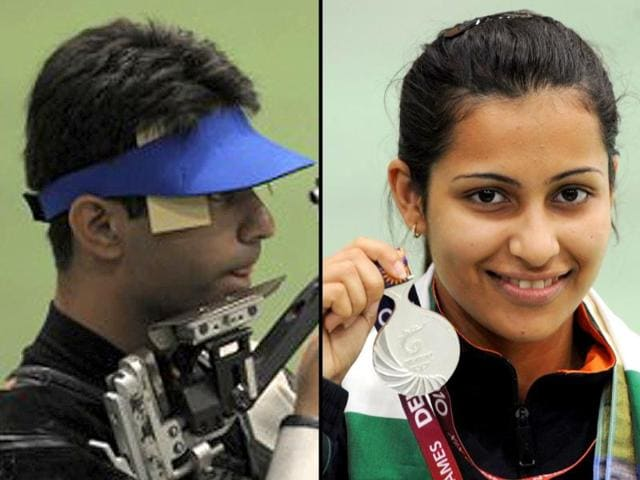 File-photos-of-Olympic-gold-medallist-Abhinav-Bindra-L-and-world-number-one-in-women-s-10-metre-air-pistol-Heena-Sidhu-AFP-Photo